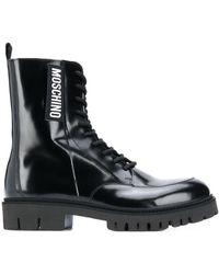 Moschino Ботинки На Шнуровке - Черный