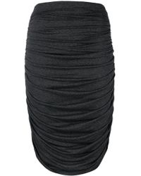 Norma Kamali - Ruched Jersey Skirt - Lyst