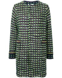 Coohem Tweed Coat - Blue