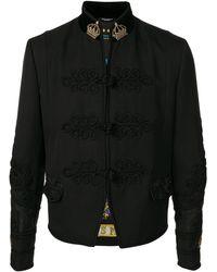 Dolce & Gabbana Veste crop Crown à ornements - Noir