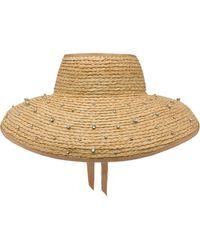 Miu Miu Embellished Straw Hat - Multicolour