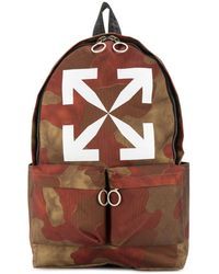 Off-White c/o Virgil Abloh Camouflage-print Backpack - Brown