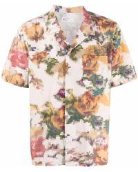 Universal Works - Рубашка С Короткими Рукавами И Графичным Принтом - Lyst