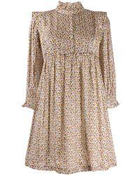 Ba&sh Deep Abstract-print Shirt Dress - Natural