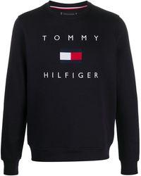 Tommy Hilfiger Tommy Flag スウェットシャツ - ブルー