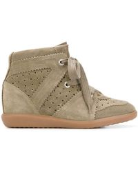 Isabel Marant Bobby Wedge Trainers - Multicolour