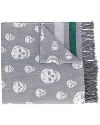 Alexander McQueen - Skull Embroidered Scarf - Lyst