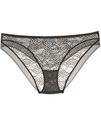 Eres Sheer Lace Briefs - Gray