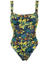 Amir Slama Printed Swimsuit - Zwart