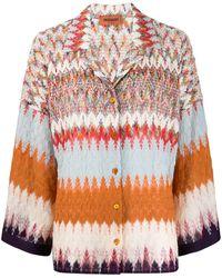 Missoni Crochet-knit Cardigan - Brown