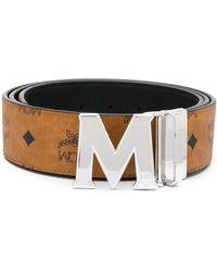 MCM Cintura con logo M - Marrone