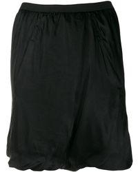Rick Owens シャーリング スカート - ブラック
