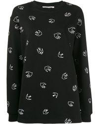 McQ Sweater Met Vogelprint - Zwart
