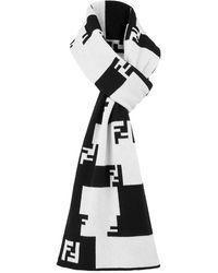 Fendi Ff Tetris Scarf - Black