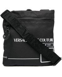 Versace Jeans Couture Logo-print Shoulder Bag - Black