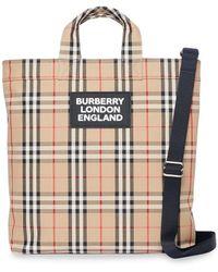 Burberry Bolso shopper con Vintage Check y logo - Multicolor