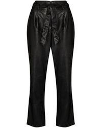 PAIGE Melila Cropped Pants - Black