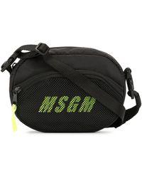 MSGM Сумка Через Плечо С Логотипом - Черный