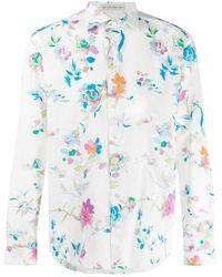 Etro Camisa con estampado floral - Blanco