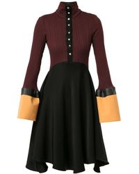 Ellery Concourse カラーブロックドレス - パープル