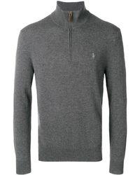 Polo Ralph Lauren Half-zip Logo Sweater - Серый