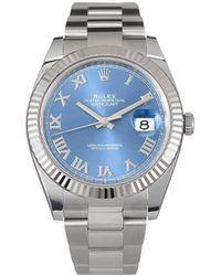Rolex Oyster Perpetual Datejust Horloge - Blauw