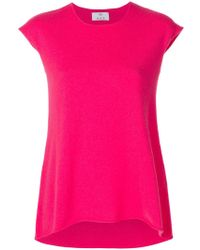 Allude - Cap-sleeve Cashmere Jumper - Lyst