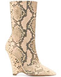Yeezy Stivali alla caviglia con zeppa - Neutro