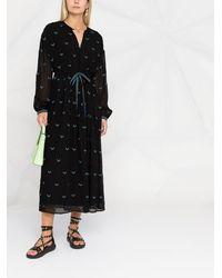 Lala Berlin Dessa Chevron-embroidered Dress - Black