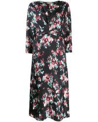 L'Autre Chose Jurk Met Kimono Mouwen - Zwart