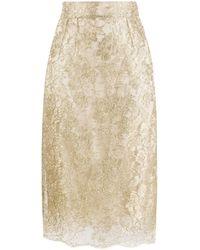 Dolce & Gabbana Lace Brocade Skirt - Metallic