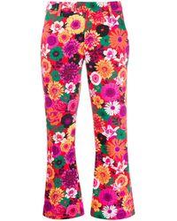 Dondup Cropped-Hose mit Blumenmuster - Pink