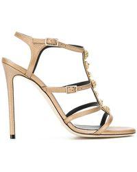 Grey Mer - Open Toe Buckle Sandals - Lyst