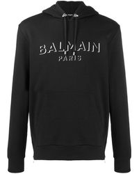 Balmain Худи С Логотипом - Черный