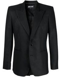 Just Cavalli シングルジャケット - ブラック