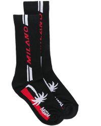 MSGM - Black Milano Palm Socks - Lyst