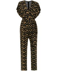 Andrea Marques Printed Jumpsuit - Black