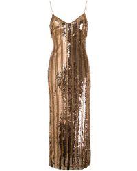 Galvan London スパンコール スリップドレス - メタリック