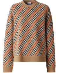 Burberry Полосатый Джемпер С Круглым Вырезом - Многоцветный