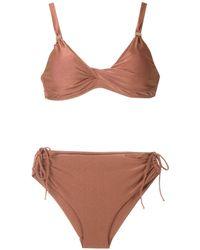 Lygia & Nanny Marcela Tri Bikini Set - Brown