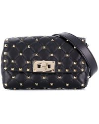 Valentino Rockstud Spike Belt Bag - Black