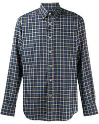Canali チェック シャツ - ブルー