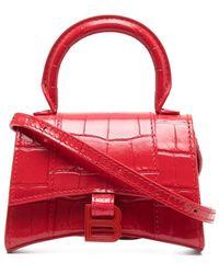 Balenciaga Сумка-тоут Hourglass - Красный