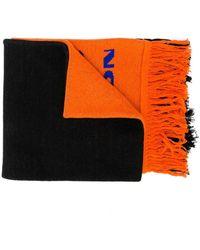 Heron Preston ロゴ インターシャ スカーフ - オレンジ