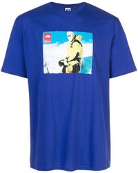 Supreme X The North Face T-shirt - Blauw