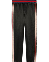 Gucci Embroidered Acetate jogging Pant - Black