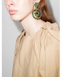 Sylvia Toledano Pendientes con colgante estilo flor - Verde