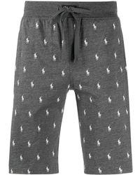Polo Ralph Lauren Bermudas de pijama con logo estampado - Gris