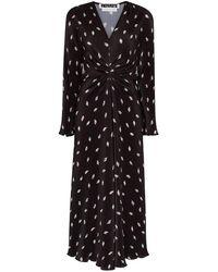 ROTATE BIRGER CHRISTENSEN Robe mi-longue Number 7 plissée - Noir