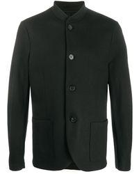 Harris Wharf London マンダリンカラー シャツジャケット - ブラック